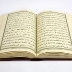Holy Koran with isolated. Verse of the koran.