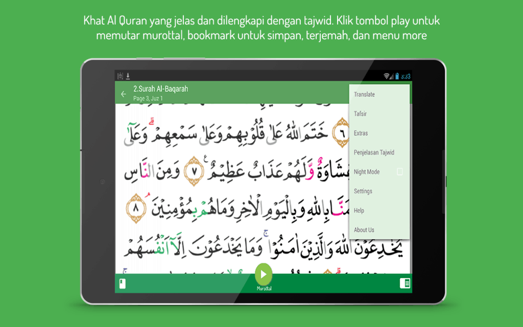 Mengaji Lebih Sempurna Dengan Al Quran Tajwid Warna Dan